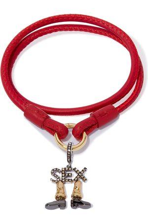 ANNOUSHKA 18kt diamond sex charm bracelet