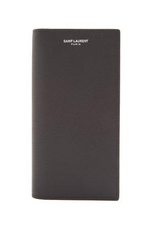 Saint Laurent Logo-print Leather Continental Wallet - Mens