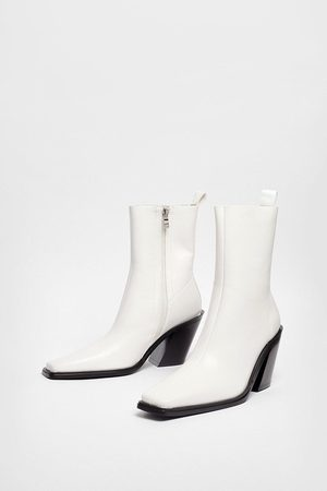 NASTY GAL Womens Back in the Saddle Western High Ankle Boots - - 3