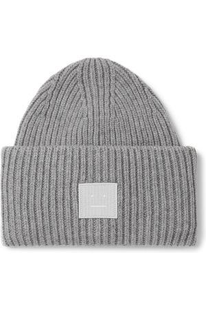 Acne Studios Logo-Appliquéd Ribbed Wool Beanie