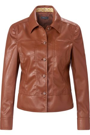Basler Faux leather jacket button placket size: 10