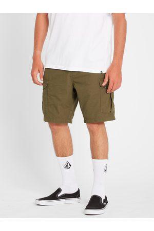 """Volcom Men Shorts - Men's Miter Iii Cargo Short 20"""" - Military"""