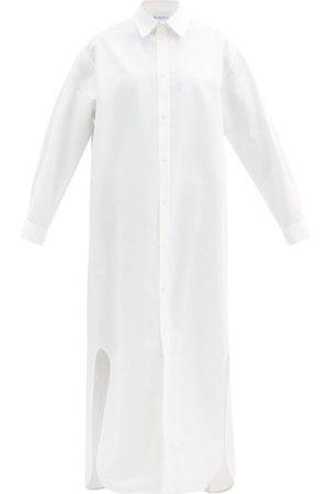Raey Long-line Cotton And Silk-blend Shirtdress - Womens