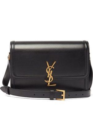 Saint Laurent Women Handbags - Solferino Ysl-plaque Leather Shoulder Bag - Womens