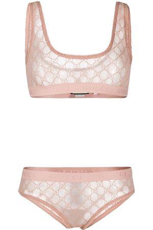 Gucci GG pattern lingerie set