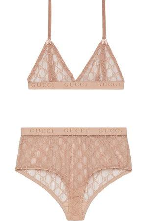 Gucci Women Bras - GG tulle lingerie set