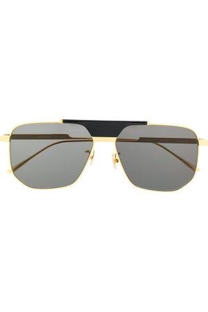 Bottega Veneta Men Sunglasses - Geometric aviator-frame sunglasses