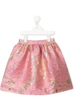 Dolce & Gabbana Girls Printed Skirts - Floral print skirt