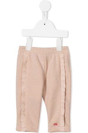 Emporio Armani Trousers - Ruffle-trimmed trousers