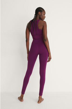 NA-KD Flow Recycled Seamless High Waist Leggings - Purple