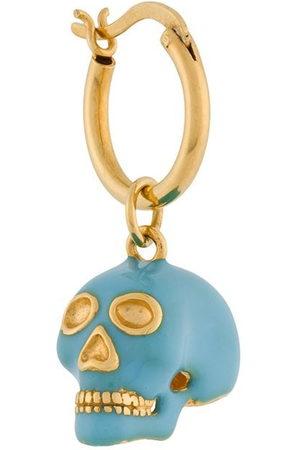 TRUE ROCKS Women Earrings - Small skull hoop earring