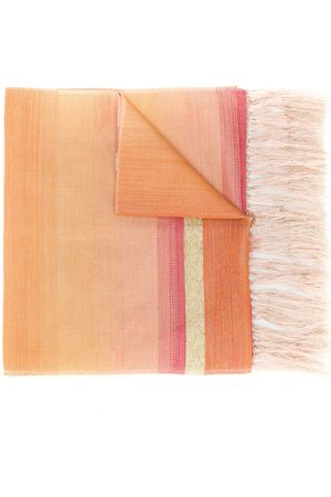 Issey Miyake Scarves - 1990's fringed striped scarf
