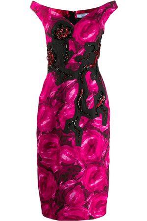 Prada Floral crystal embellished dress