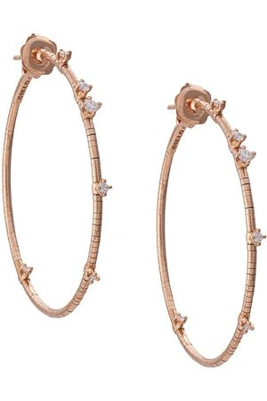 Mattia Cielo Women Earrings - 18kt rose gold diamond hoop earrings