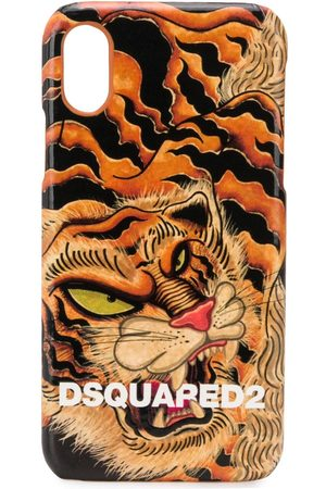 Dsquared2 Men Phones - Tiger print iPhone X case