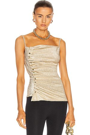 Paco rabanne Women Tank Tops - Button Down Ruched Top in &