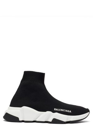 Balenciaga Speed Recycled-knit Trainers - Womens