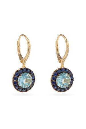 ROSA DE LA CRUZ Diamond, Topaz, Sapphire & 18kt Gold Earrings - Womens
