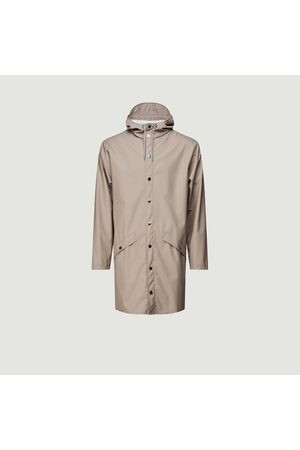 Rains Long rain jacket Taupe