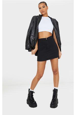 PRETTYLITTLETHING Women Denim Skirts - Disco Fit Denim Skirt