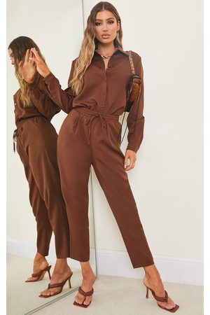 PrettyLittleThing Chocolate Cigarette Trouser