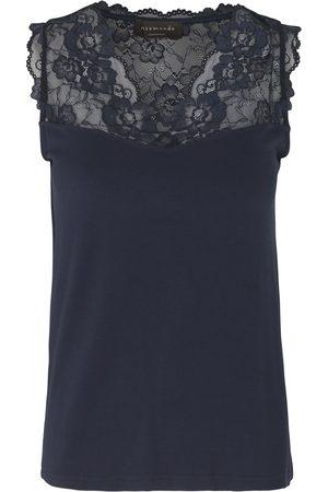 Rosemunde 4812 Sleeveless Top With Lace Trim - 435 Navy