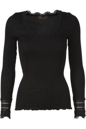 Rosemunde Silk Top Long Sleeve Vintage Lace