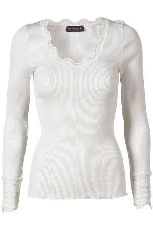 Rosemunde Women Tops - Silk Top Long Sleeve Vintage Lace New