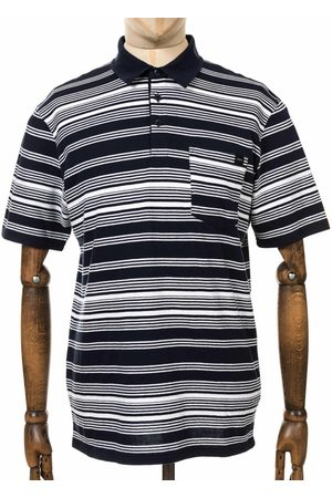 Edwin Men Polo Shirts - Jeans Royal Stripe Polo Shirt - Navy Colour: Navy