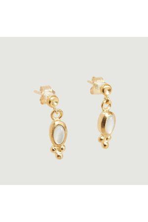 Monsieur Mother-of-pearl Lila Earrings Vermeil nacre
