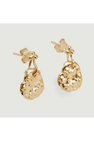 Monsieur Ina yellow vermeil stud earrings Vermeil jaune