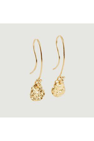 Monsieur Women Earrings - Ina yellow vermeil dangling earrings Vermeil jaune