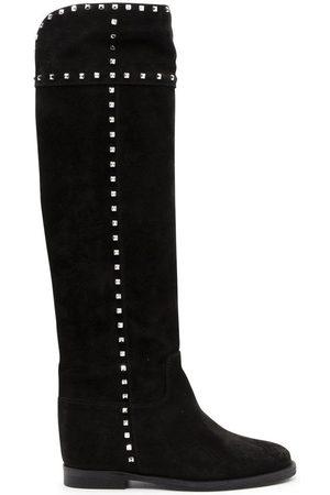 Via Roma Women Boots - WOMEN'S 3403BLACK SUEDE BOOTS