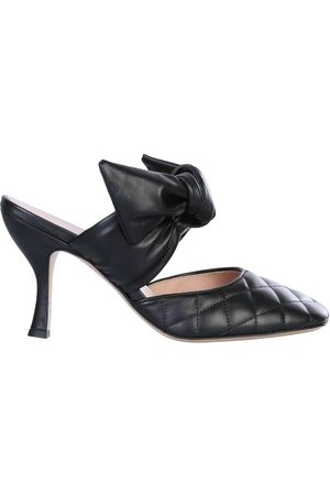 GIA WOMEN'S KENDALLA614BLACK LEATHER HEELS