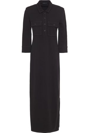 James Perse Woman French Cotton-terry Midi Shirt Dress Size 0