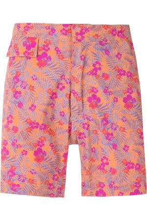 AMIR SLAMA Men Swim Shorts - Floral tactel swim shorts