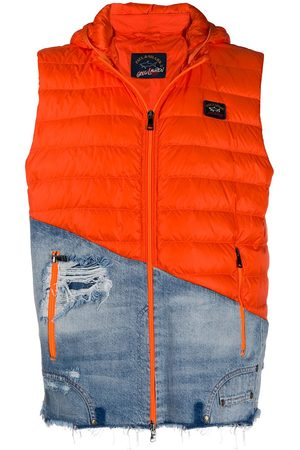 GREG LAUREN Combined hooded gilet