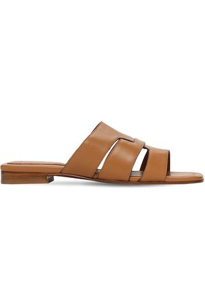 MANU Women Sandals - 15mm Woven Leather Mules