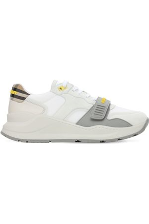 Burberry Ramsey Tech & Leather Low Sneakers