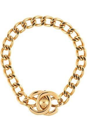 CHANEL 1996 CC turn-lock chain bracelet
