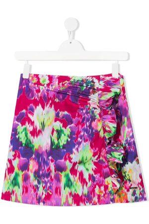 Msgm Girls Printed Skirts - TEEN abstract-print skirt