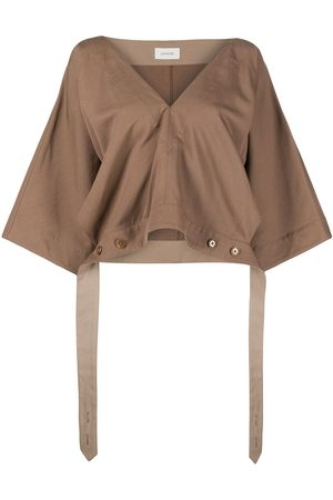 LEMAIRE Tie waist cropped blouse