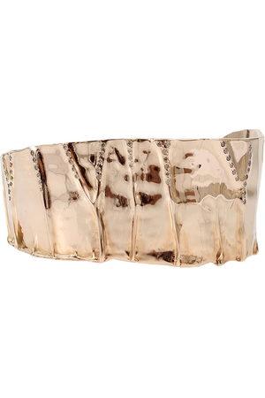 LUCIFER VIR HONESTUS 18kt rose gold diamond Vene Manetta Slim cuff bracelet