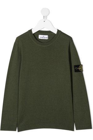 Stone Island Logo-patch cotton jumper
