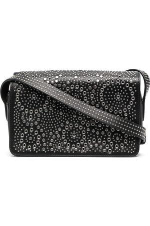 10 CORSO COMO Stud-embellished flap camera bag