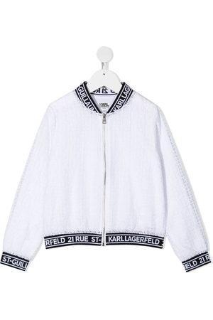 Karl Lagerfeld Ceremony organza bomber jacket