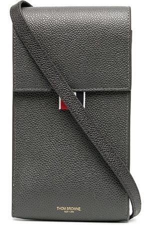 Thom Browne Pebbled calf leather phone holder