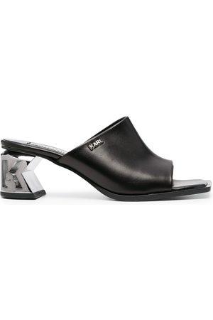 Karl Lagerfeld K-Blok shaped heel mules