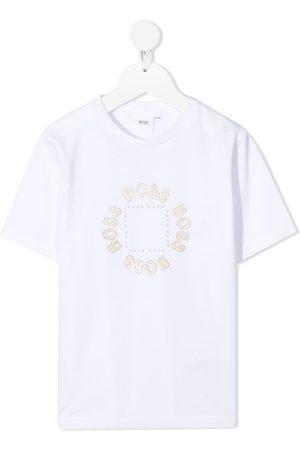 HUGO BOSS Glittered logo-print T-Shirt