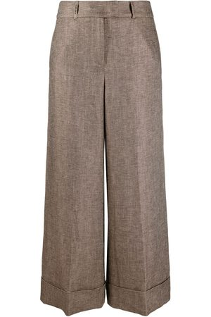 PESERICO SIGN Wide-leg cropped trousers
